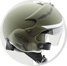 OPEN FACE SCOOTER CASCO OSBE Gpa Aircraft TORNADO verde dell'esercito S 55-56 cm