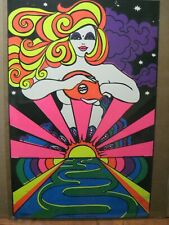 Vintage Black Light Poster Dawn of a new Age  In#G6086