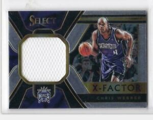 2018-19 Chris Webber Jersey Panini Select Kings X-Factor