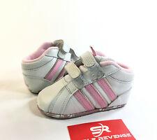 Used 3K adidas Baby Infant Girls Shoes White Pink Straps Liladi Cf G13984