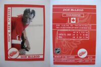 2015 SCA Don McLeod rare Detroit Red Wings goalie never issued produced #d/10