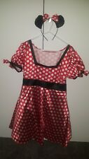 Disney Minnie Mouse Woman Adult Costume Size 10-14