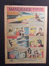 "1961 Mandrake The Magician 10.5x14.75"" Sunday Color Newspaper Strip Vg 4.0"