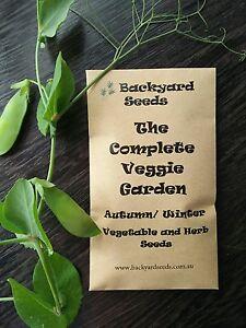 The Complete Veggie Garden, Heirloom Vegetable and Herb Seeds Autumn / Winter