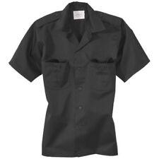 Camisas y polos de hombre de manga corta negra de poliéster