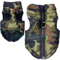 Giubotto giubbottino mimetico invernale cappotto imbottito militare vestito cane