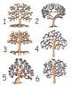 WOODEN FAMILY TREE (6 DESIGNS) craft blank embellishment scrapbook wedding card