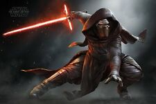 Poster STAR WARS 7 - Kylo Ren Crouch - Force Awakens  ca90x60 NEU 58632