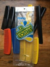 NEW Vintage PLANCO Unbreakable Combs set of 12 assorted colors