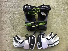 Youth Lacrosse Golves And Elbow Pads Xs