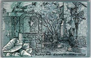 """New Orleans, LA Postcard COURT OF TWO SISTERS RESTAURANT """"Wishing Well"""" Unused"""