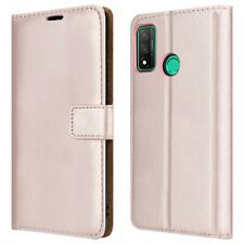 For Huawei P Smart 2020 Wallet Case, Leather Flip Phone Cover + Tempered Glass