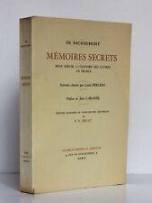 Mémoires secrets… DE BACHAUMONT. 24 aquarelles de BECAT. Briffaut, sans date.