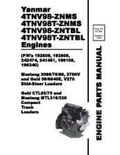 Mustang 2066 2076 2086 2700v Skid Steer Loader Engine Parts Manual