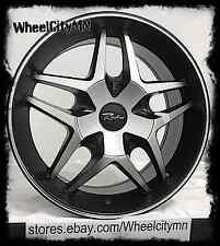 16 inch black Raceline Montage 192 wheels Ford Focus Fiesta Cougar 4x108 4x100