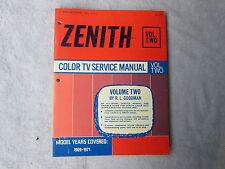 Zenith Color TV Service Manual - Robert Goodman     Box - C