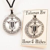 RICHES TALISMAN Necklace Solomon Seal of Magic Pendant Wealth Amulet Prosperity
