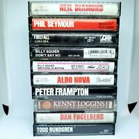 Lot of 10 Classic Soft Pop Rock Cassette Tapes Neil Diamond Billy Squier +More
