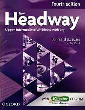 NEW HEADWAY Upper-Intermediate FOURTH EDIT Workbook w Key & iChecker CD-ROM @New