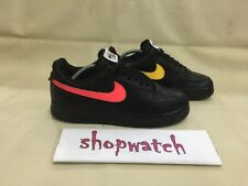 "🔥🔥🔥Nike air force 1 swoosh pack ""all star"" black shoes ah8462-002 size 10"