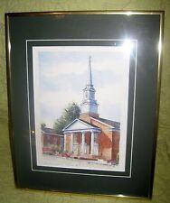 Framed Print Tabernacle New Bern, N C Artist Janet Francoeur