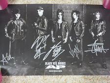 BLACK VEIL BRIDES ANDY BIERSACK AUTOGRAPH SIGNED POSTER W/ SIGNING PICTURE PROOF