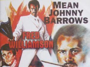 Mean Johnny Barrows DVD BLAXPLOITATION MOVIE1975 Fred Williamson RARE !!