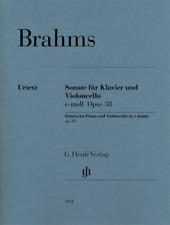 Henle Urtext Brahms Violoncello Sonata in E minor, Op. 38