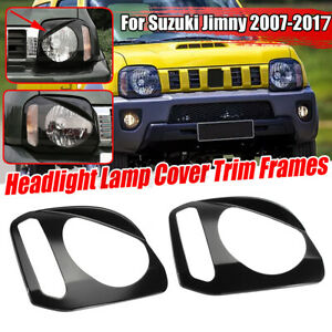 2X Front Headlight Headlamp Cover Trim ABS Frame For Suzuki Jimny 2007-2017 SP
