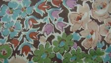 LIBERTY OF LONDON BROWN SALMON SEAGREEN FLORAL COTTON NECKTIE TIE MAP2717B #I11