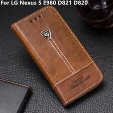 Luxury Flip Wallet Stand Leather Phone Case Cover For LG Nexus 5 E980 D821 D820