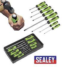 Sealey HV002 8 pc Hi-Vis Hammer-Thru Screwdriver Tool Set With Magnetized Tips