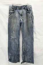 Buffalo Game Jeans Mens Size 38 Good Used Condition Really Ripped Cuffs Distress