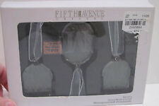 Fifth Avenue Handmade Crystal Monogrammed Christmas Ornaments with Letter M