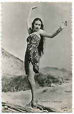 CARTE POSTALE PHOTO PERSONNALITE DOROTY LAMOUR