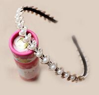 Women Girls Retro Lace Pearl bohemian Sweet Party Trim hair headband band Hoop