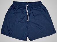 High Five Navy Blue Plain Nylon Soccer Shorts  - Men's Medium