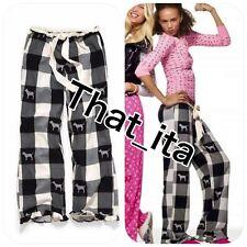 Victorias secret pink plaid dog logo pj pants, xs  plus tank top