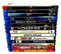 Lot of 14 Used Blu-Ray Movies, You Pick - Notebook, Gump, Marvel, Tommy Boy..