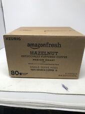 AmazonFresh 80 Ct. Coffee K-Cups, Hazelnut Flavoured Medium Roast, Keurig (F-1)