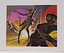 """Ralph McQuarrie Battlestar Galactica Art Print #22- Ovion Assault 11""""x13"""""""