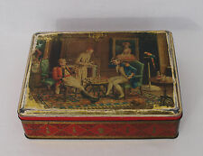 Vintage Biscuit Tin - Picture of Men Playing Chess