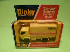 DINKY TOYS 383 CONVOY NATIONAL CARRIERS TRUCK - YELLOW - GOOD CONDITION IN BOX