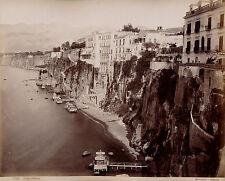 SORRENTO c. 1875 - 2 Photos Sommer et Pompéi Italie  - 8