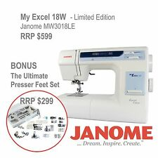 Janome My Excel 18W Sewing Machine + Presser Feet Set Walking Foot MW3018LE best