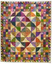 New Pieced Quilt Pattern  MOUNTAIN RETREAT   72x90  and  90x108