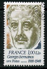 TIMBRE FRANCE OBLITERE N° 1987 GEORGES BERNANOS / Photo non contractuelle