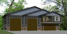 60x50 Apartment with 2-Car 2-RV Garage - PDF FloorPlan - 1,694 sqft - Model 1A