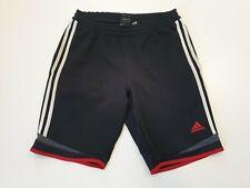 L582 para Hombre Adidas Negro Rojo Blanco Cordón Fútbol Deporte Pantalones Cortos Reino Unido s W30