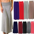 Femmes Plissé Revers Taille Pull-over Long Longueur Viscose Gypsy Jupe Longue